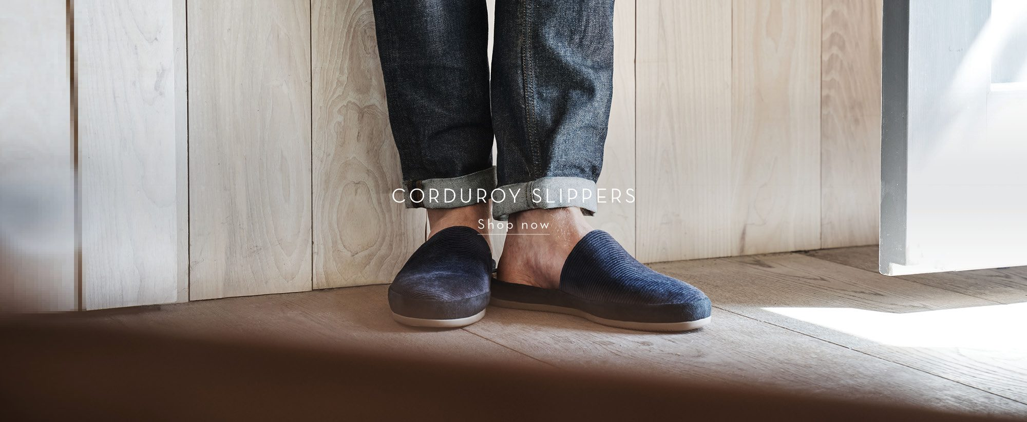 New Corduroy Mens Slip-On Slippers