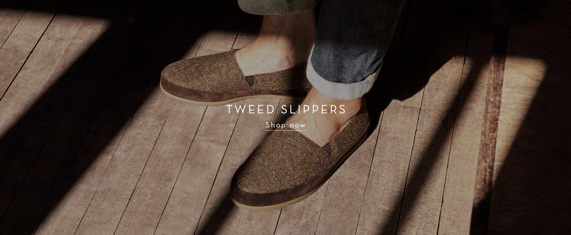 New Donegal Tweed Mens Slippers
