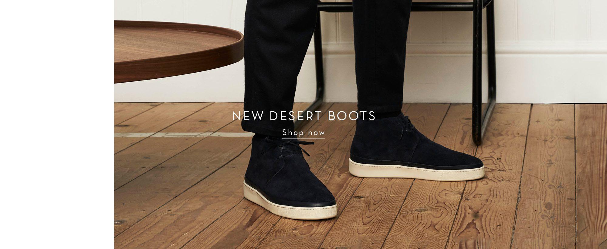 New Season Suede Desert Boots for Men - mobile