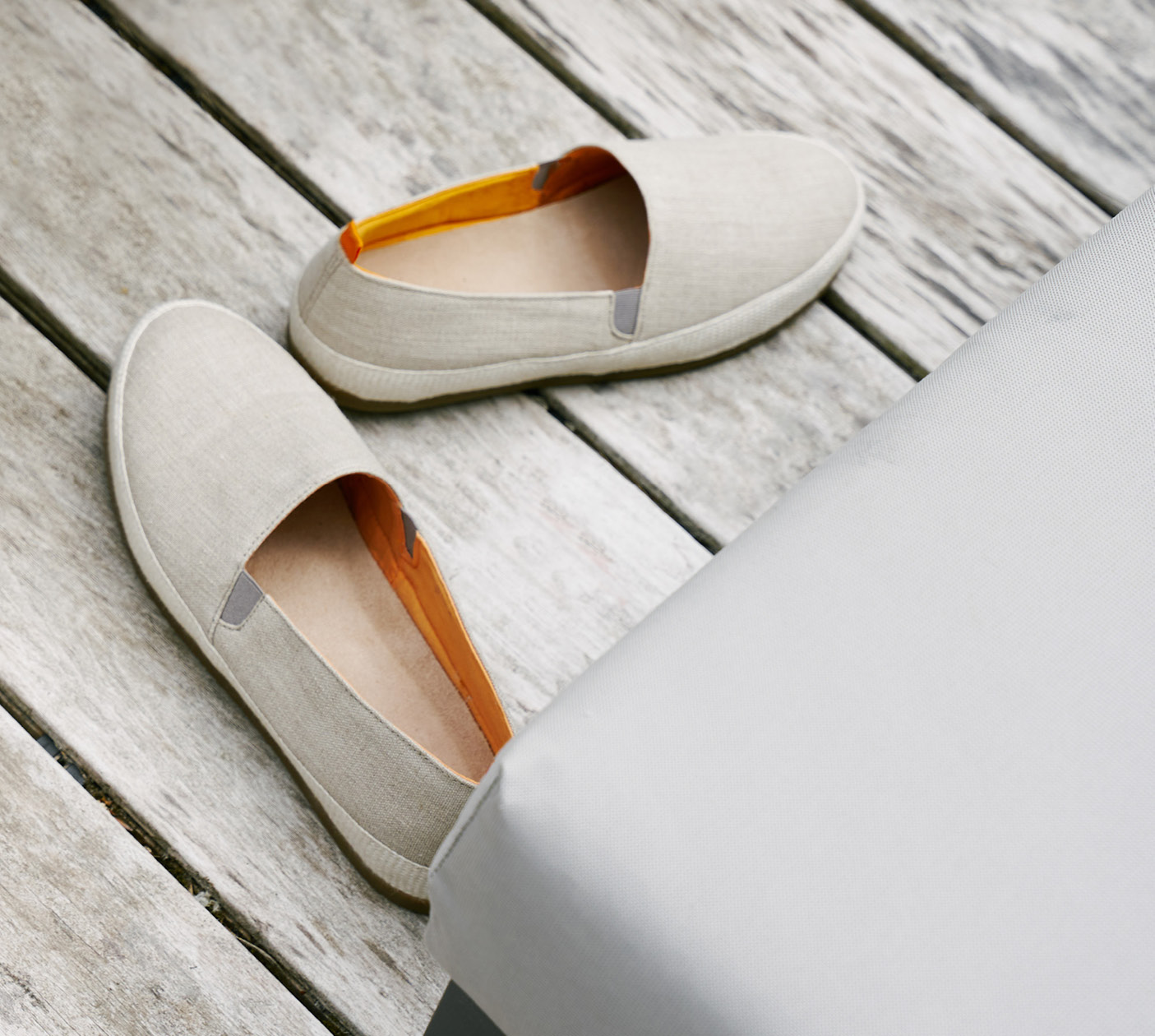 Poolside Style - New Beige Linen Espadrilles for Men