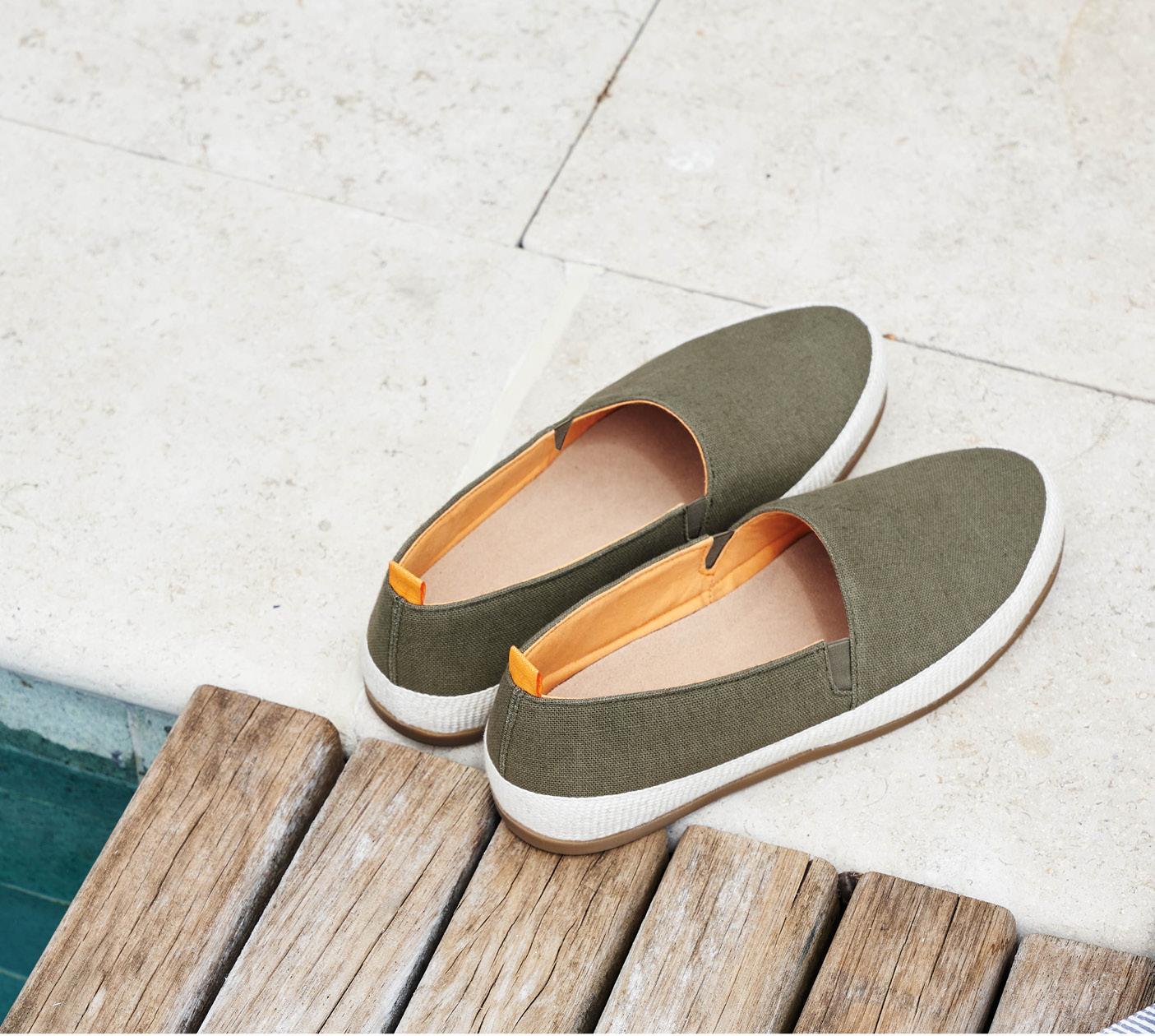 Poolside Style - New Linen Khaki Hemp Espadrilles for Men