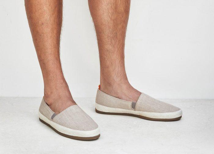 Premium Linen Beige Espadrilles for Men | MULO shoes