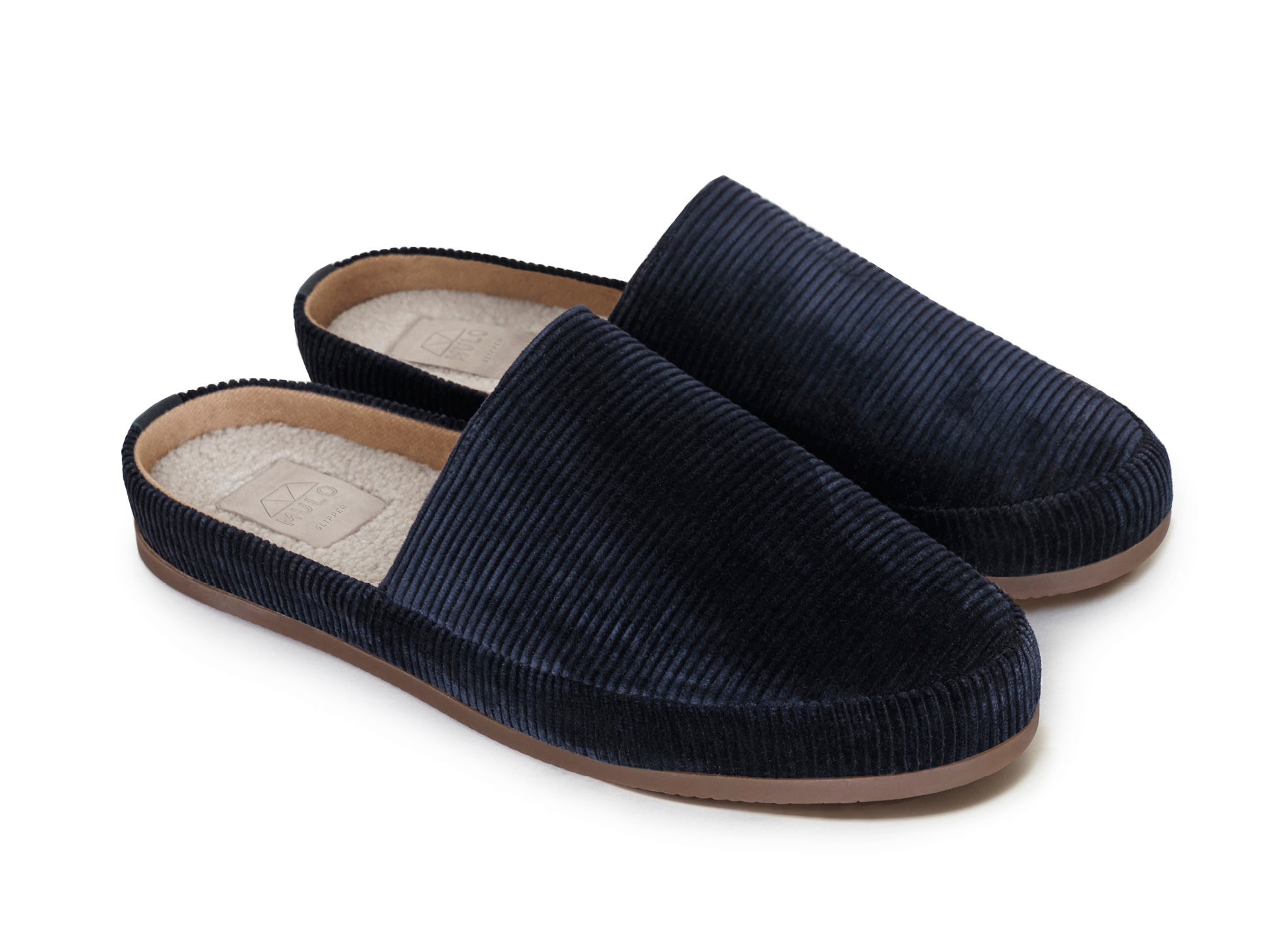 Blue Mens Slippers in Corduroy | MULO shoes