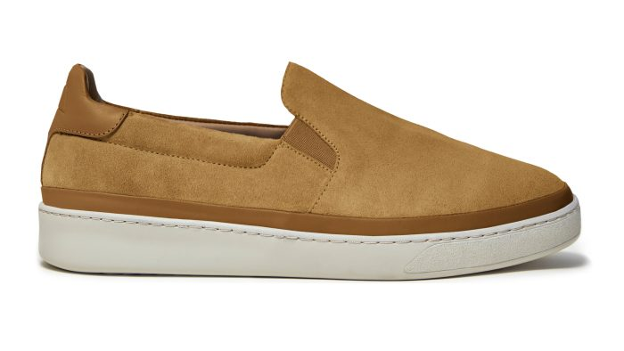 Slip-On Men's Sneakers in Dark Tan Suede
