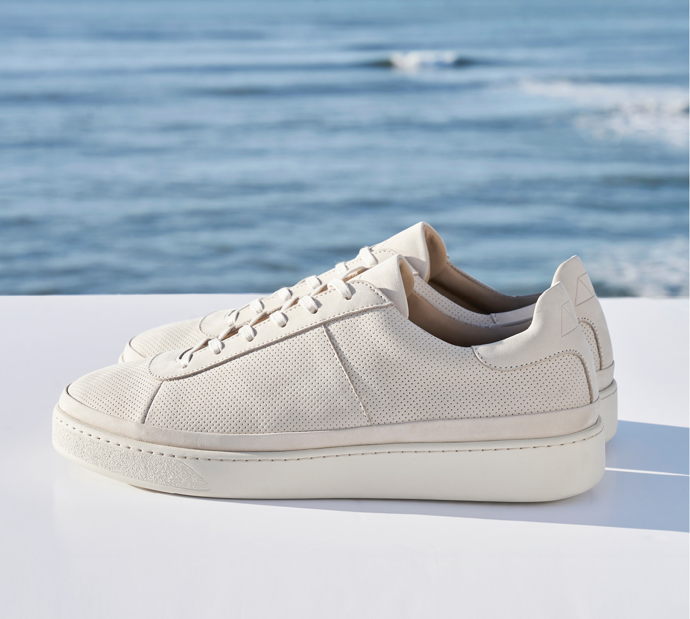 Off-white Perforated Mens Sneakers