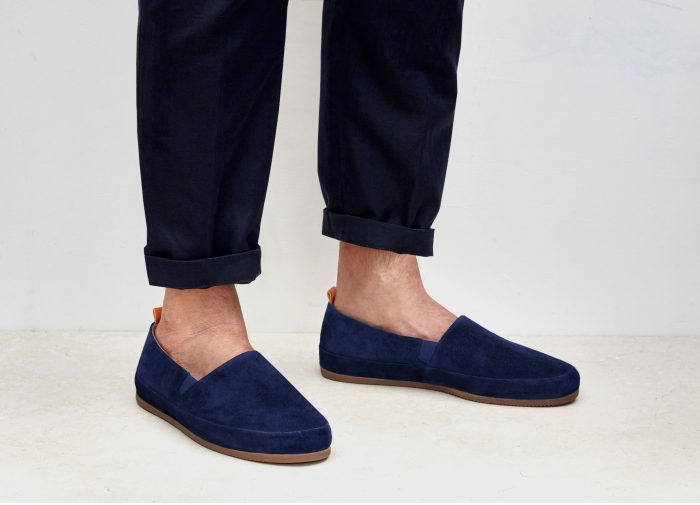 Mens Suede Blue Loafers | MULO shoes