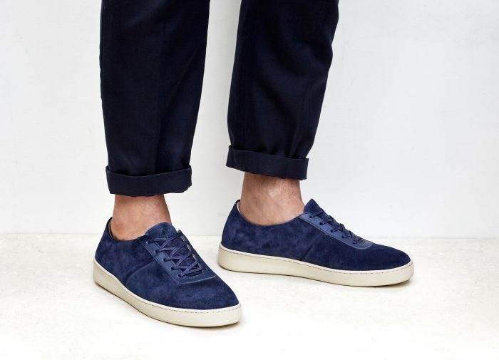 Mens Suede Blue Sneakers | MULO shoes