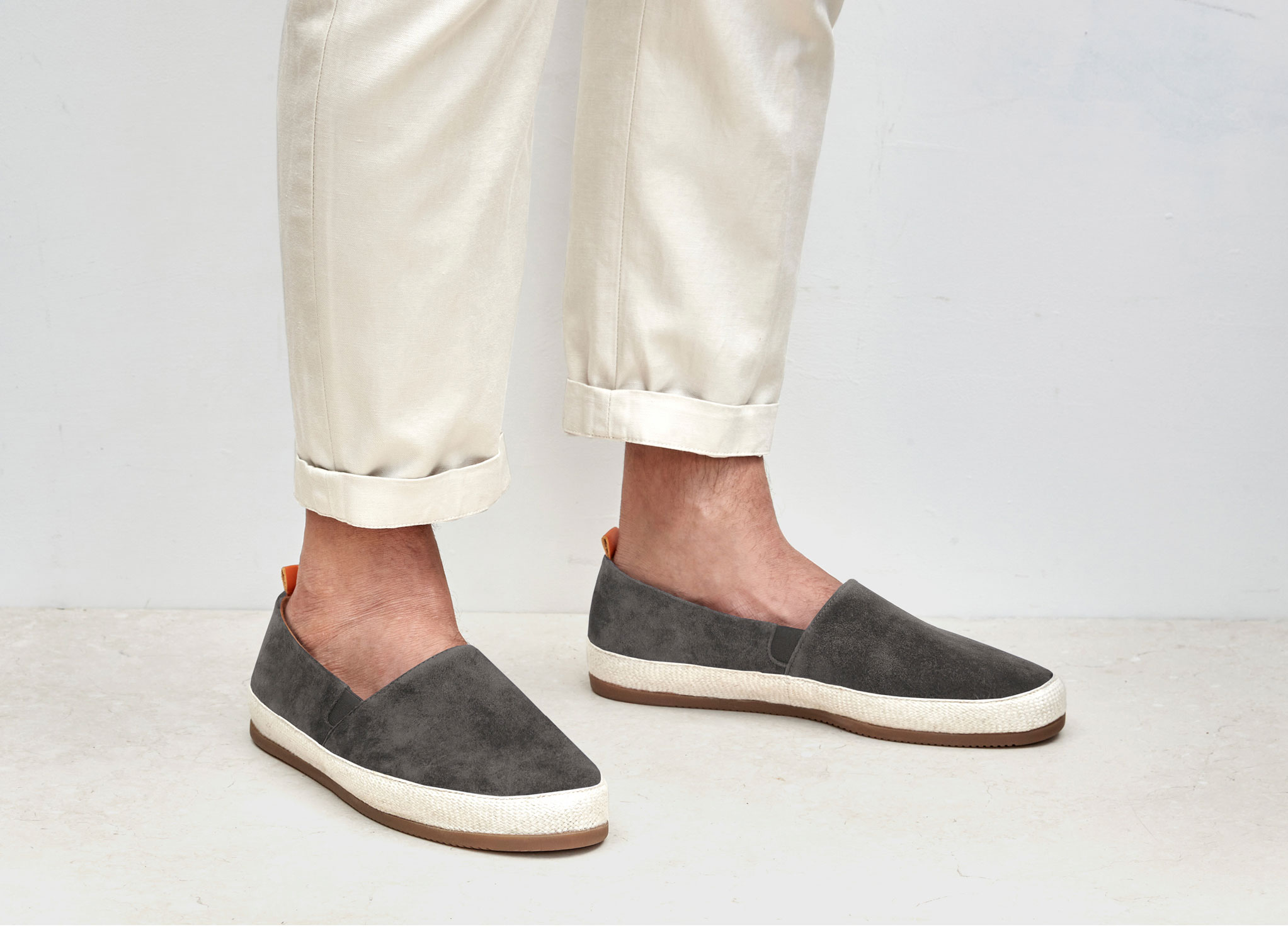 mens black leather espadrilles