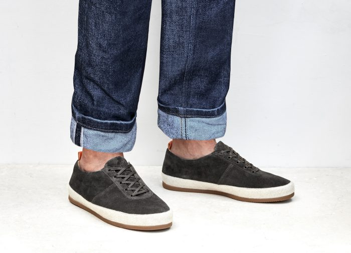 Suede Brown Lace-Up Espadrilles for Men
