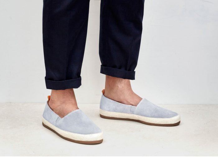 Mens Suede Light Blue Espadrilles   MULO shoes