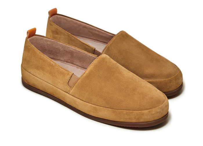 Suede Loafers for Men in Dark Tan