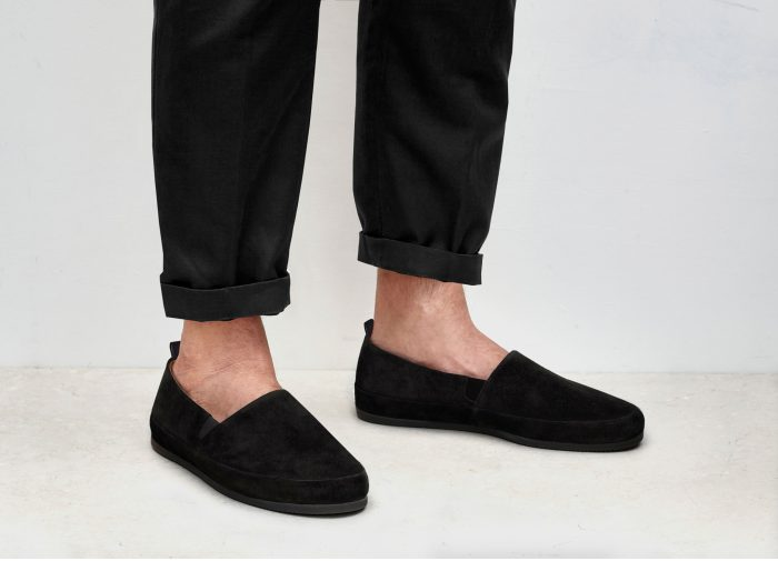 Suede Black Loafers for Men | MULO shoes
