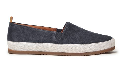 Mens Espadrilles in Charcoal Grey Suede