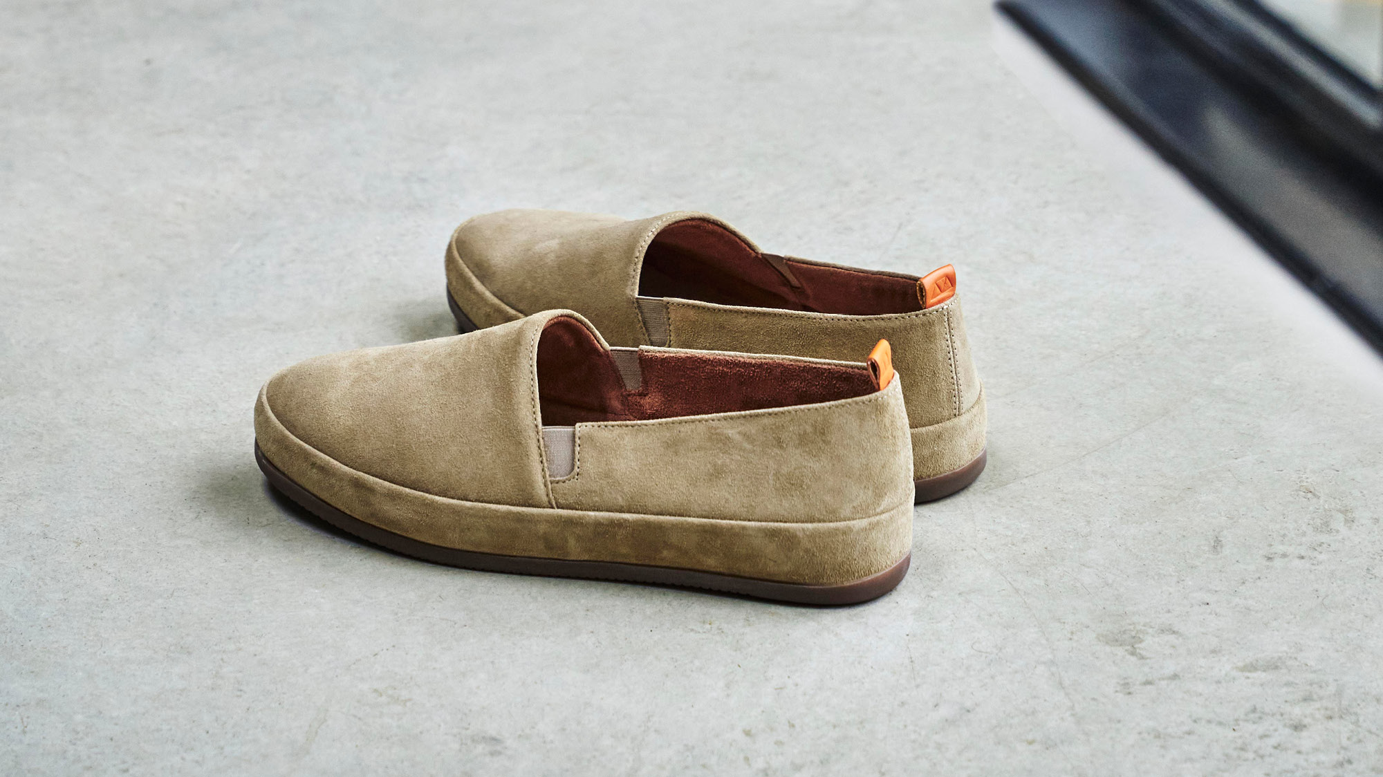 Suede Mens Loafers - Mens Tan Shoes