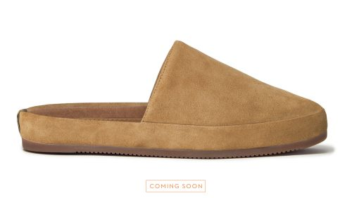 Slippers for Men in Suede Tan