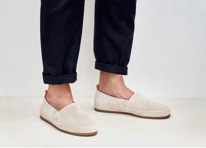 Suede White Loafers for Men | MULO shoes