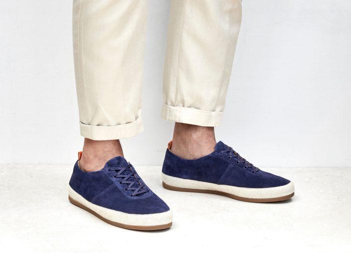 Mens Suede Navy Lace-Up Espadrilles   MULO shoes