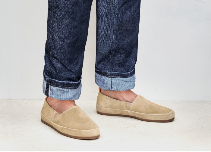 Suede Tan Loafers for Men