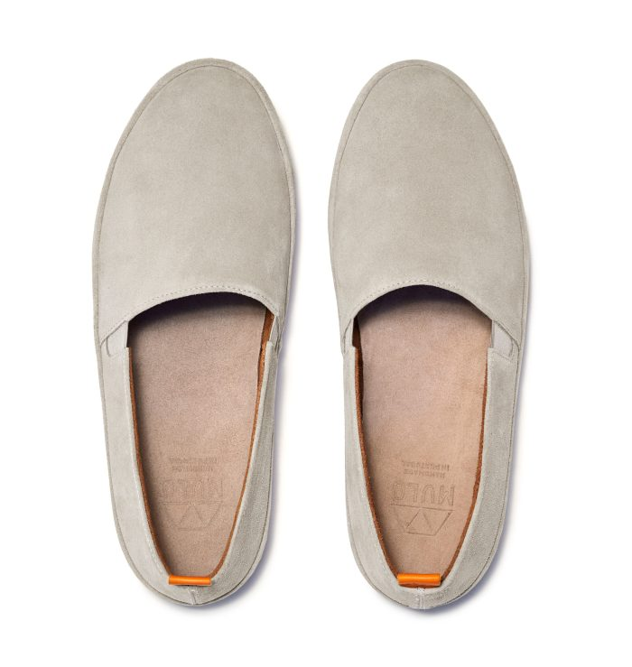 Mens white Loafers in Suede | MULO shoes