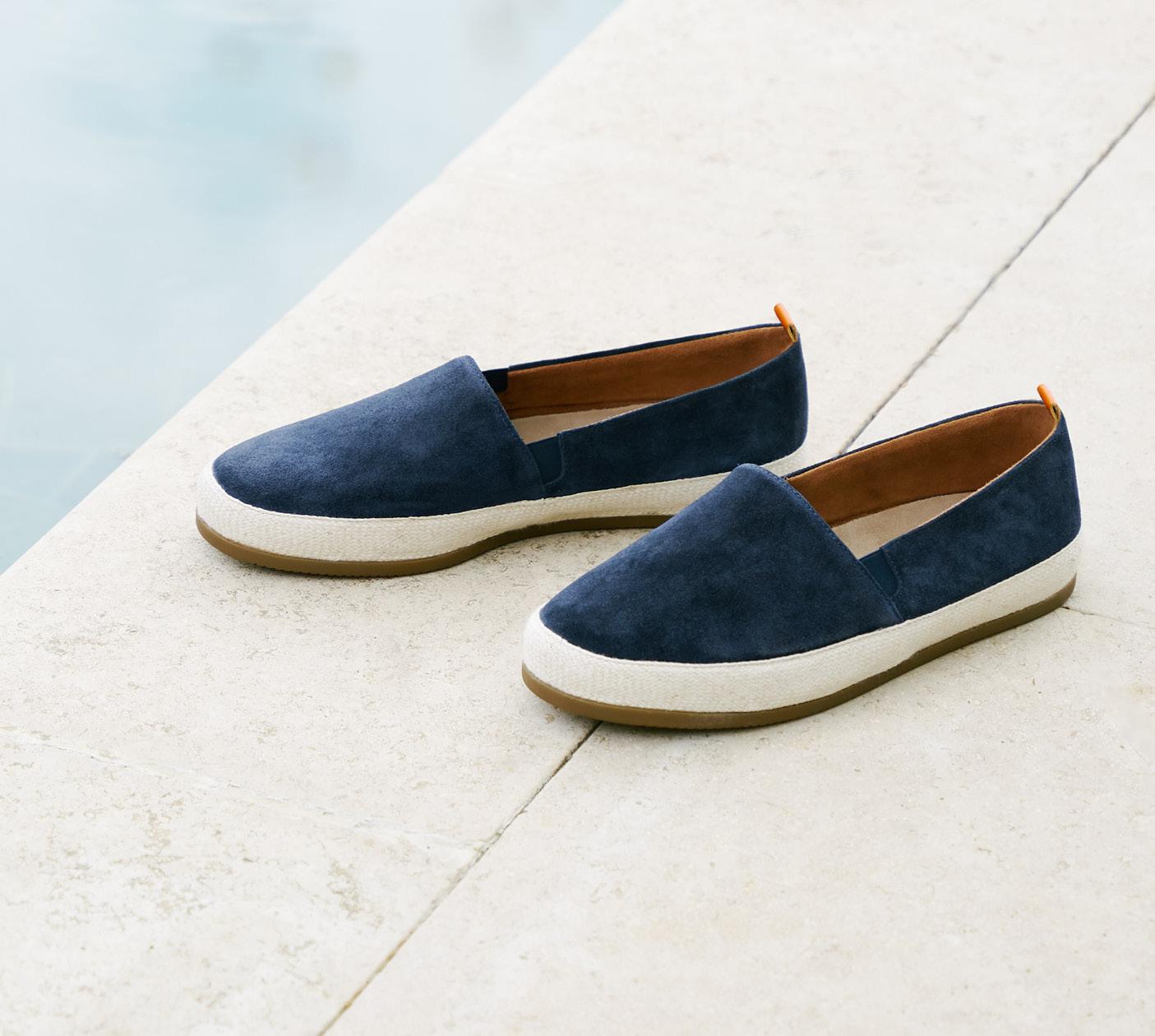 Summer Style - Mens Suede Navy Blue Espadrilles