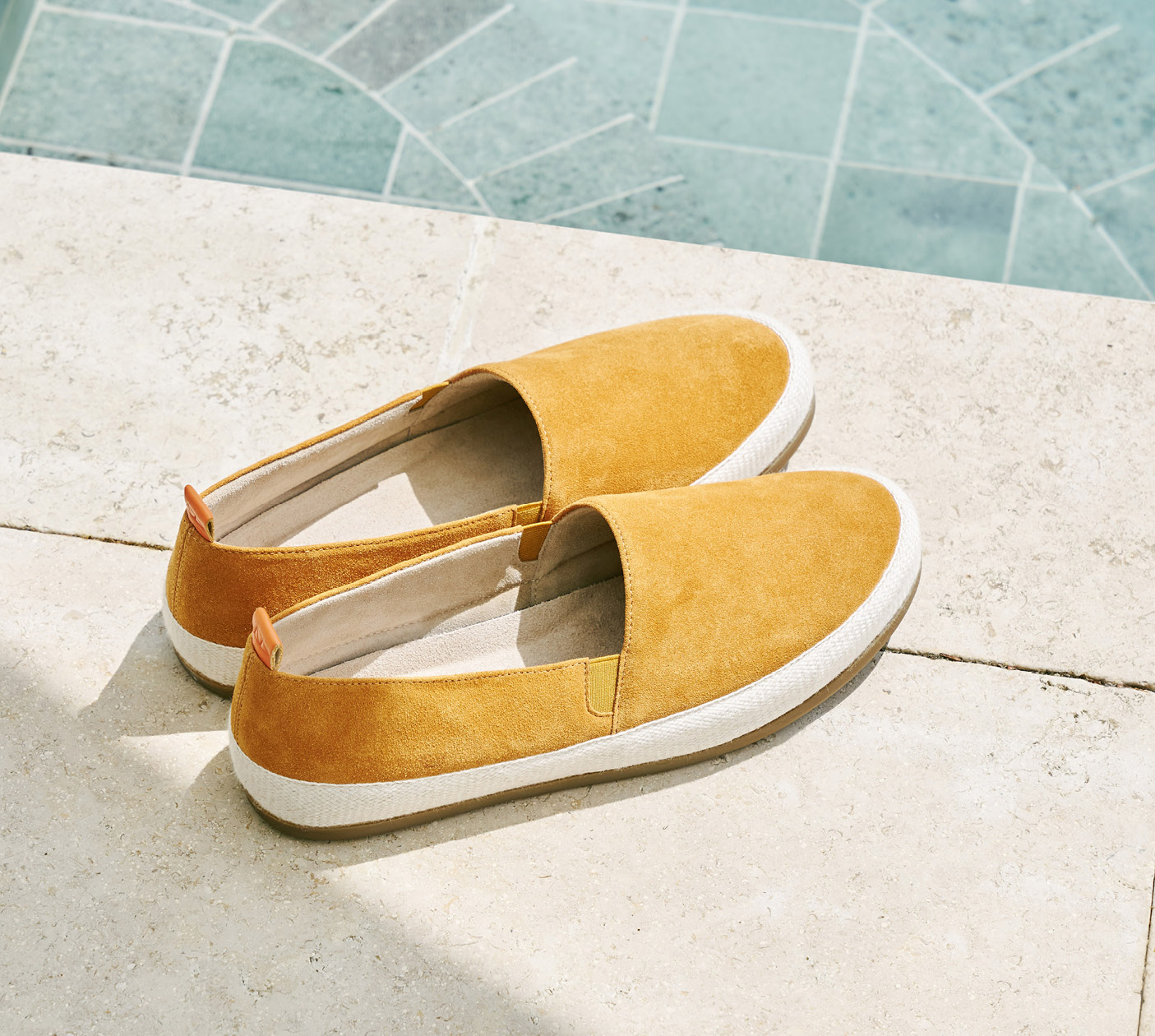 Summer Style - Mens Suede Orange Espadrilles