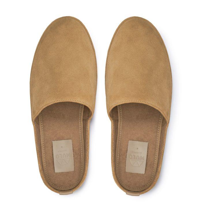 Luxury Slippers in Tan Suede