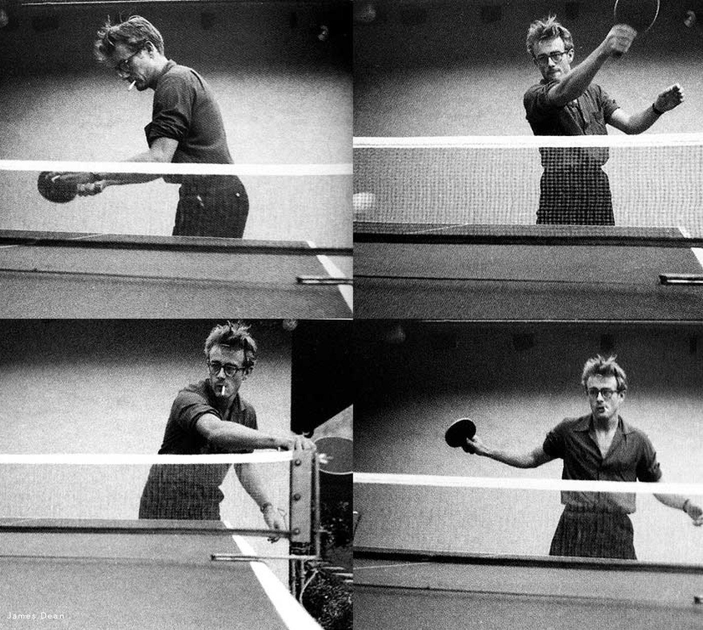 James Dean Playing Ping Pong