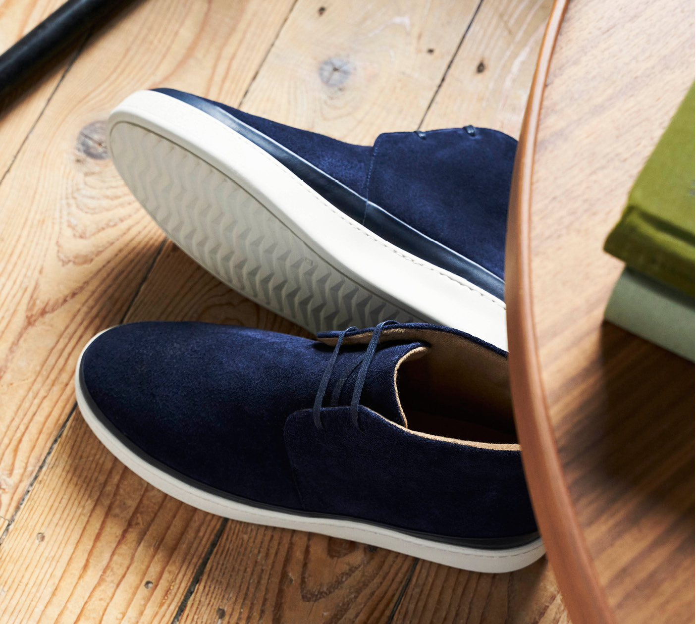 Uniform Dressing - Mens Desert Boots in Blue Suede
