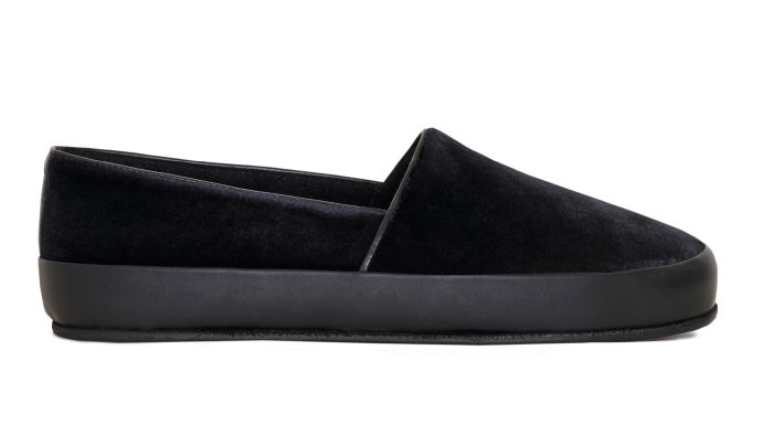 Evening Slippers in Black Velvet | MULO shoes