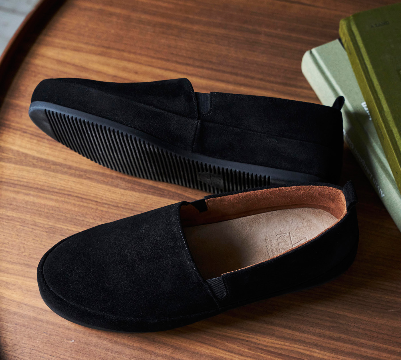 WFH Style - Mens Suede Black Loafers