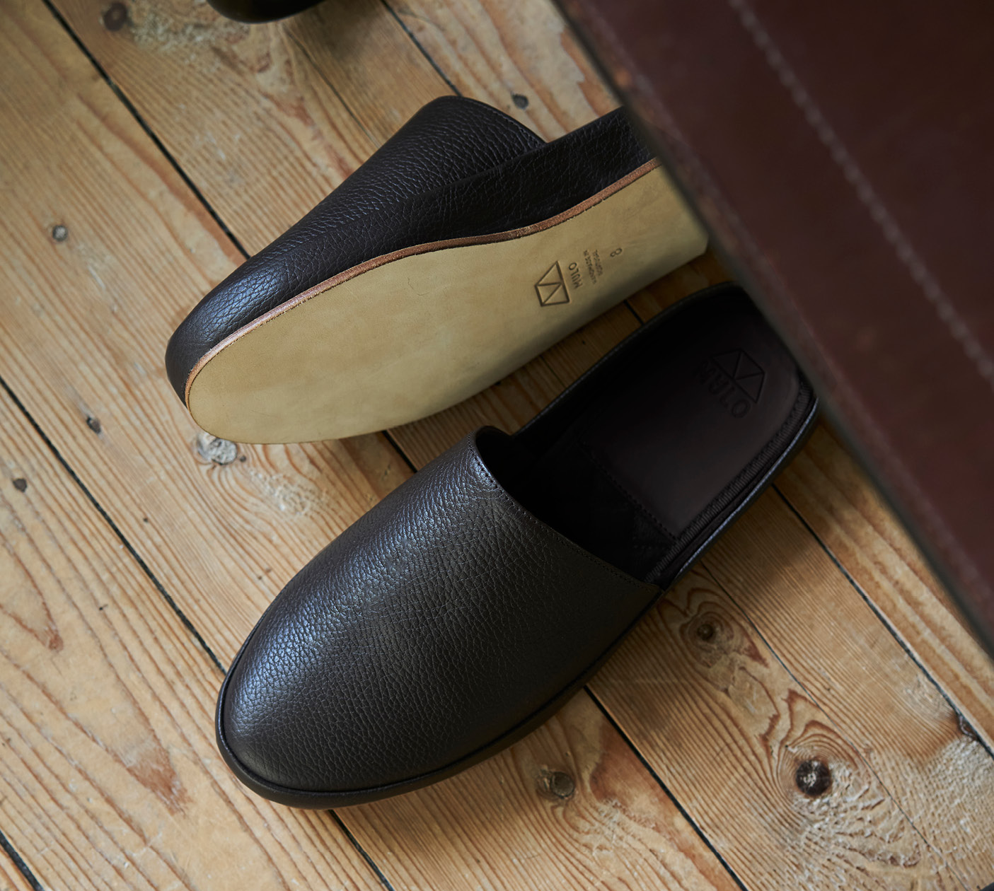 WFH Style - Mens Leather Slippers