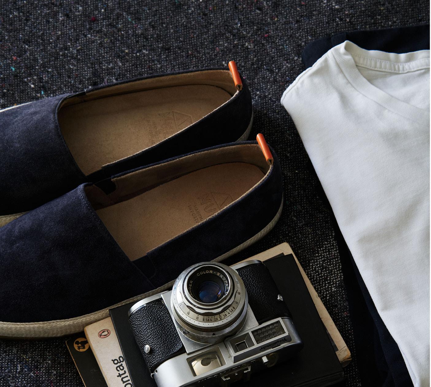 Mens Summer Shoes - Suede Espadrilles