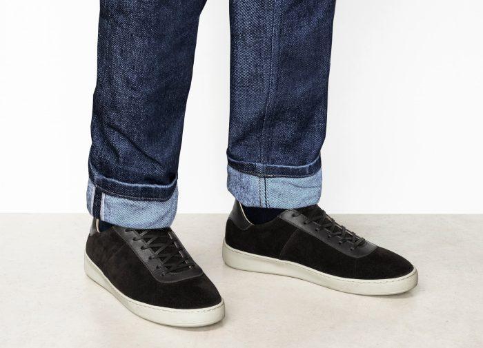 Waxed Suede Brown Mens Sneakers